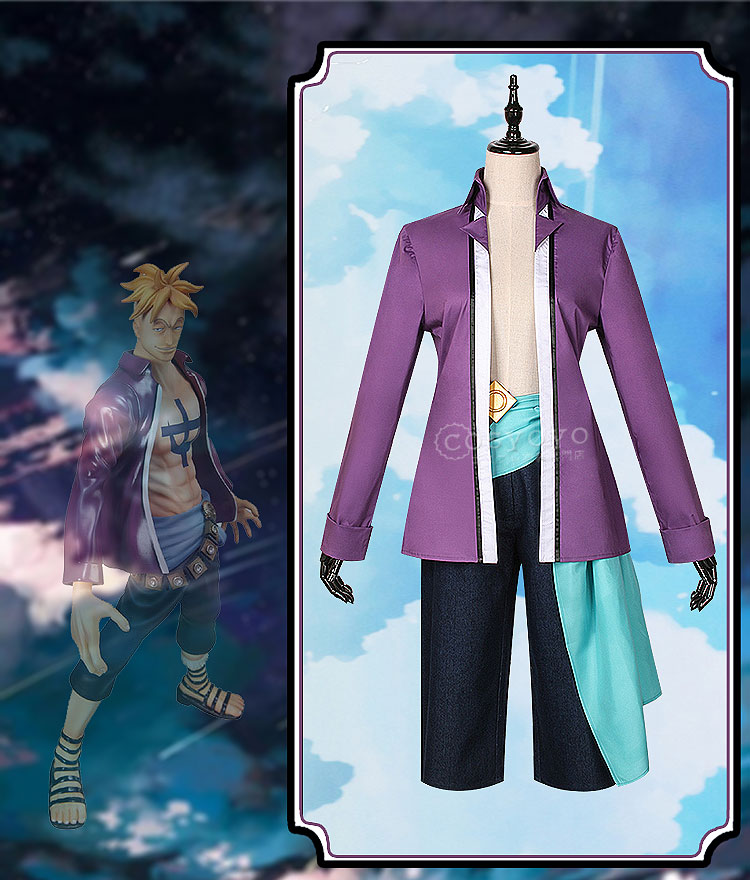 ONEPIECE ONE PIECE OP Phoenix the secular birdcaptain Marco Marouk cosplay costume parka men coat pants new year colth