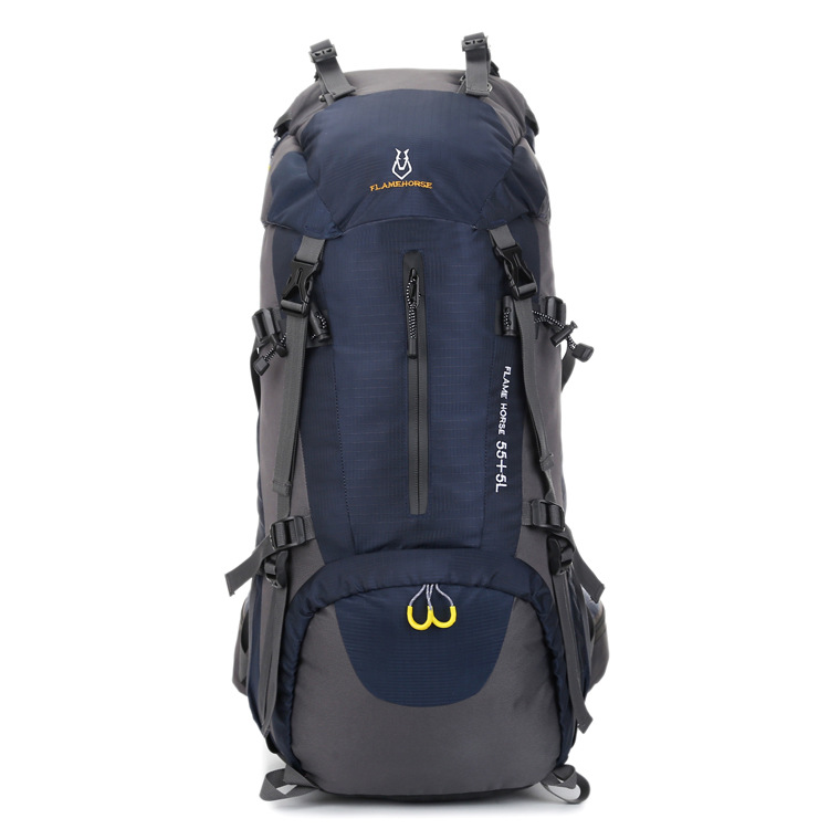 Climbing waterproof outdoor sports nylon bag camping backpack waterproof 60L mountaineering bag wholesaleClimbing waterproof outdoor sports nylon bag camping backpack waterproof 60L mountaineering bag wholesale