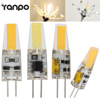 10Pcs Lot Mini G4 LED Lamp AC DC 12V LED COB Bulb 6W 220V 360 Beam
