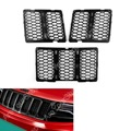 Продажа Для Jeep Grand Cherokee 2014-2015 Передняя Honeycomb Black Mesh Grille Вставки Крышка ABS Пластик