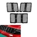 Venta Para Jeep Grand Cherokee 2014-2015 Frontal de Nido de Abeja Malla Negro Inserciones en la Parrilla Cubierta de Plástico ABS