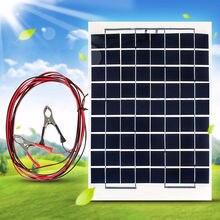 Высокая эффективность поликристаллический кремний энергии Панели солнечные Батарея модуль 10W 12V+ зажимы типа «крокодил» для Панели солнечные аварийный светильник