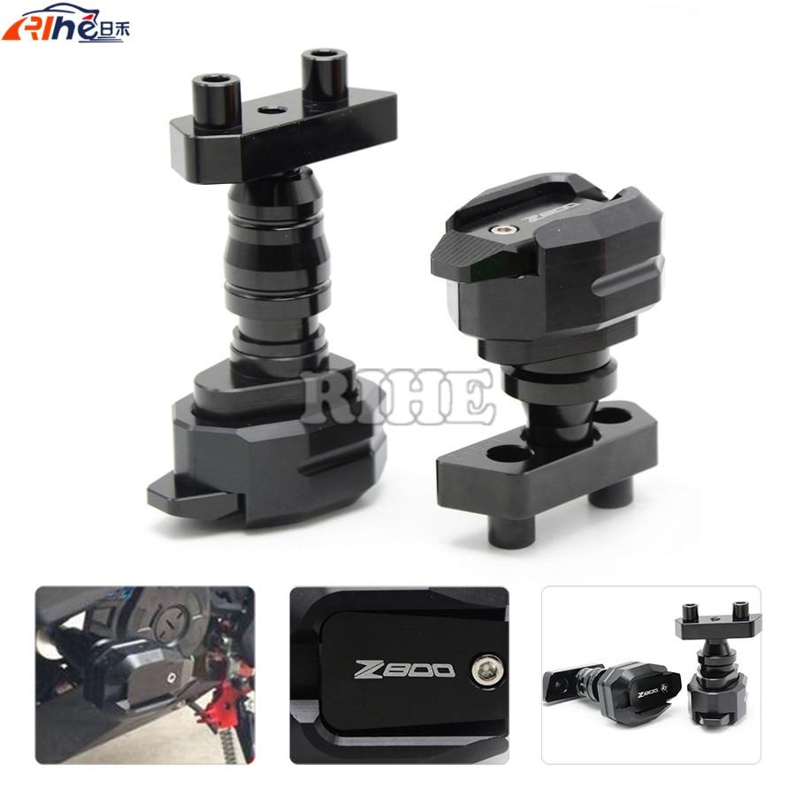 все цены на  Motorcycle CNC Aluminum Left and Right Frame Slider Anti Crash Protector For KAWASAKI Z800 2013 2014 2015 2013-2015  онлайн