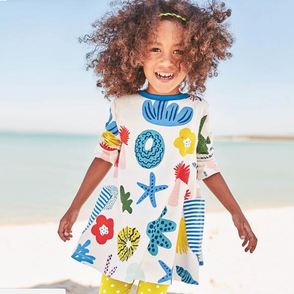 Freies Verschiffen Baumwolle 2018 Neue Mode-design Kleid Herbst Kleider Für Mädchen Modischer (In) Stil;