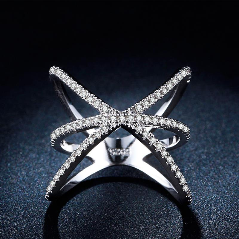 engagement rings Size 6 7 8 9 New Fine Jewelry Wedding Luxury global tellurion cross lady cz finger rings for love