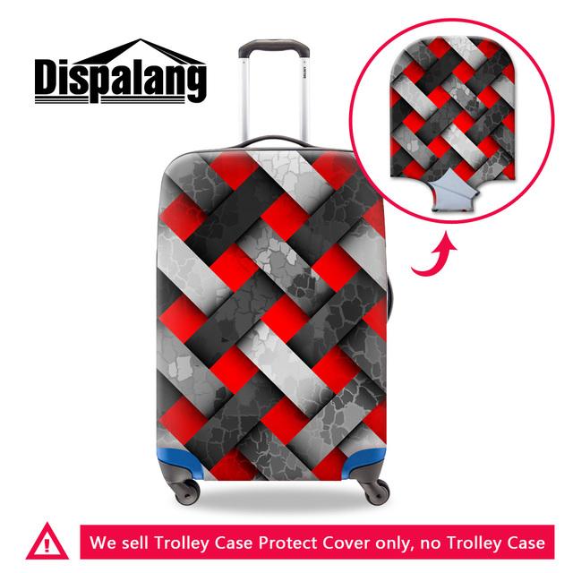 Dispalang xadrez cobertura de bagagem trolley caso de proteção à prova d' água para viagens 18-30 polegada elástico esticar dirtproof capa atacado