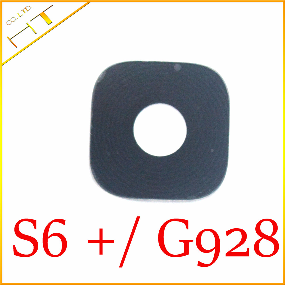 10pcs Glass material Back Main Camera Ring Cover Lens with sticker for samsung galaxy S6 edge plus S6 edge+/G928