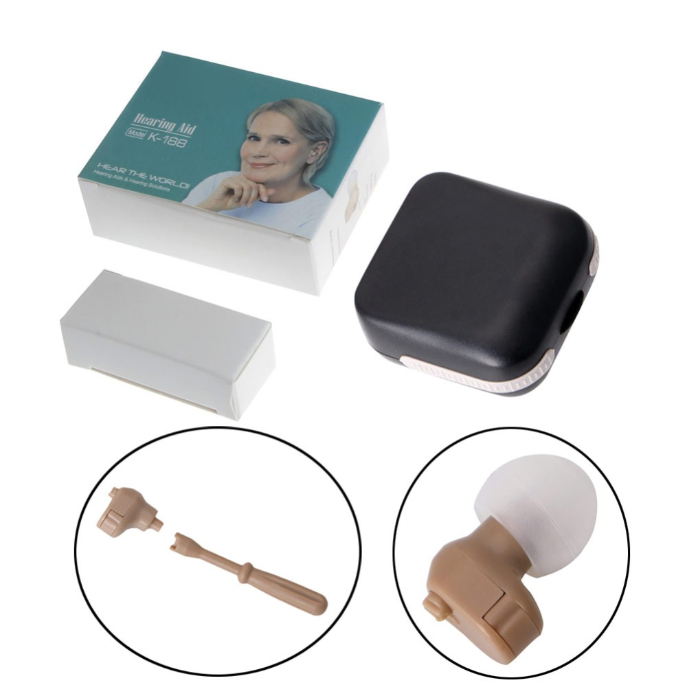 K-188 Digital Mini Hearing Aid In The Ear Sound Voice Amplifier Adjustable Tone