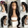 Дешевые Цена 130% Плотность Полный Шнурок Человеческих Волос Парики Для Черного женщины Бразильский Девственные Волосы Парики Фронта Шнурка Объемной Волны Парик Ребенка волос