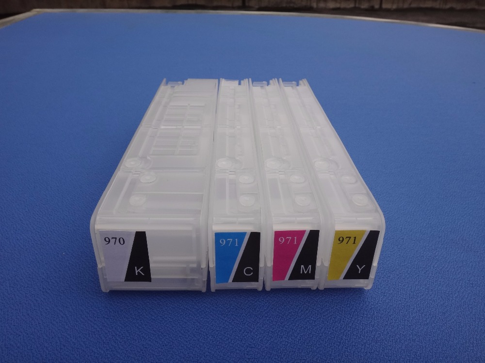 For HP 970 971 970XL 971XL Empty Refillable Ink Cartridge For HP Officejet X576dw X476dw X476dn Pro X451dn X451dw X551 Printer for hp970 hp 970 971 auto reset chips refillable ink cartridges empty for hp x451dn x551dw x476dn x576dw with arc chips