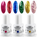 Perfect Summer 6pcs Glitter UV Soak Off Nail Gel Polish DIY Nail Art Gel Varnish Long Lasting Led Gel Polish