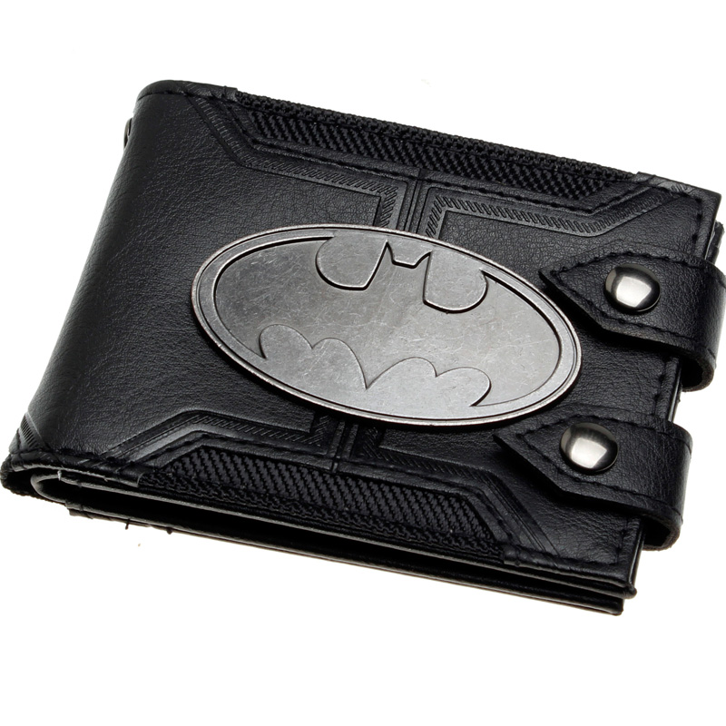 batman Bi-Fold Wallet  DFT-1920 mens batman logo badge bifold wallet dft 1327