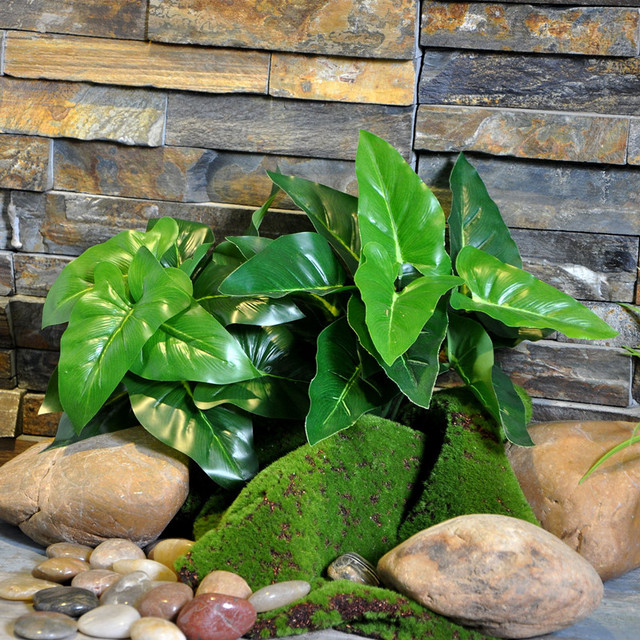 1pc large leaf evergreen artificial grass fake plants top quality Quality Fake Plants