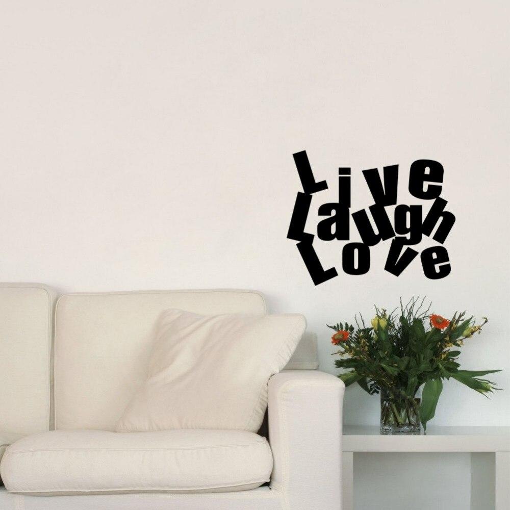 Inspirinng Quotes Live Laugh Love Art Wall Decal Vinyl Wall Sticker