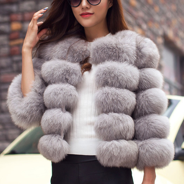 Naiveroo Vintage Fluffy Faux Fur Coat Womens Short Furry Fake Fur Winter Outerwear Pink Coat 2018 Autumn Casual Party Overcoat by Naiveroo