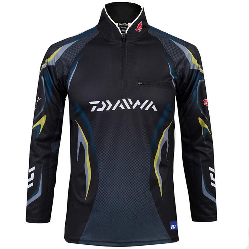 2 colors new style daiwa men fishing clothes uv protection for 4xl fishing shirts
