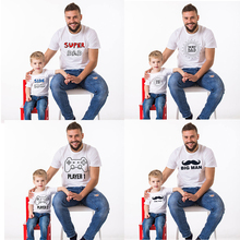 Babyinstar 2017 New Father Baby Clothes Summer Short Sleeve Cotton t-shirt Outwear Fashion Family Matching Outfits