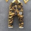 Novo 2016 Outono Meninos Adolescentes de Jeans Para O Menino Do Bebê Camuflagem Elástico Na Cintura das Calças Jeans Crianças Jean Crianças Denim Longo Pant
