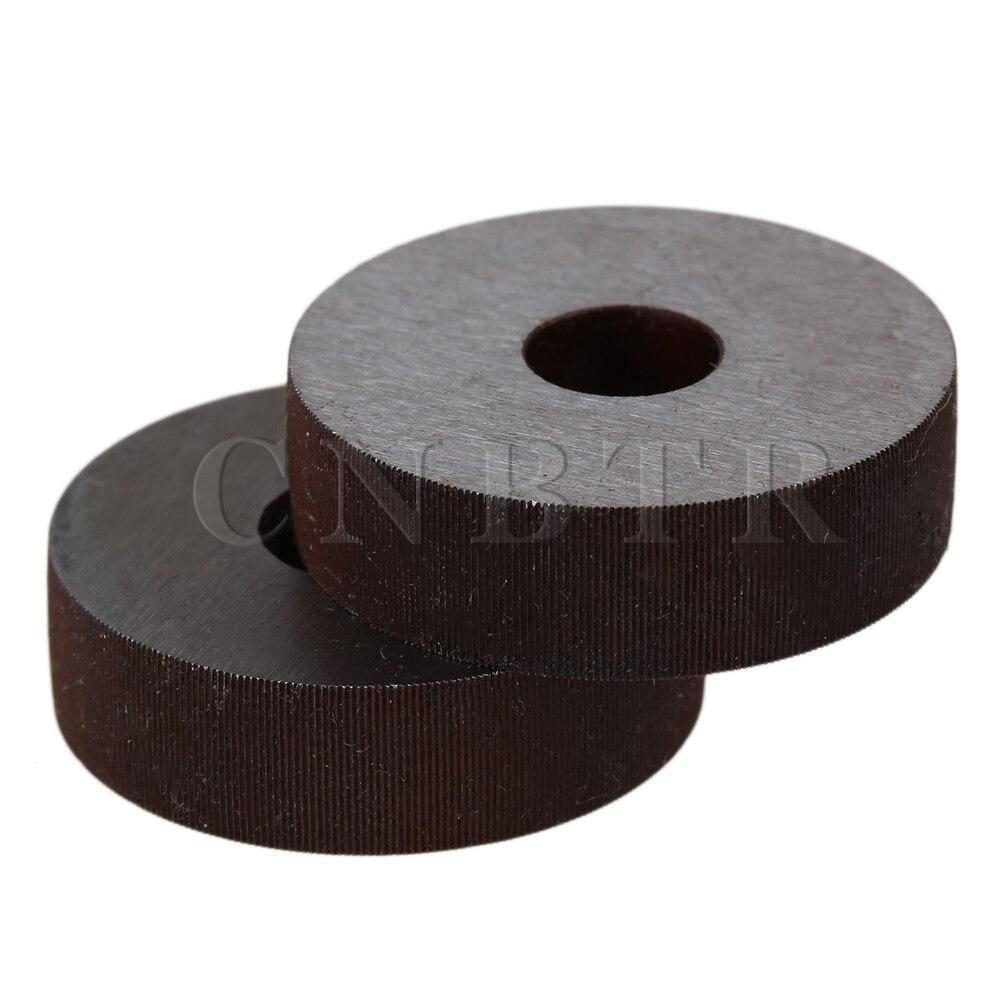 CNBTR Steel 0.3 mm Pitch Linear Knurl Wheel 28 OD Single Straight Coarse Pattern Knurling Tool Pack of 2