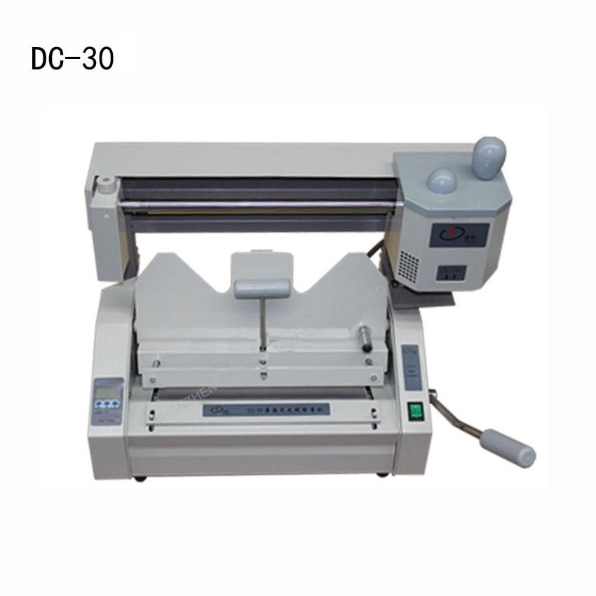 1PC perfect binding machine,glue binding machine ,book binding machine,Wireless glue book binder machine with LCD  цены