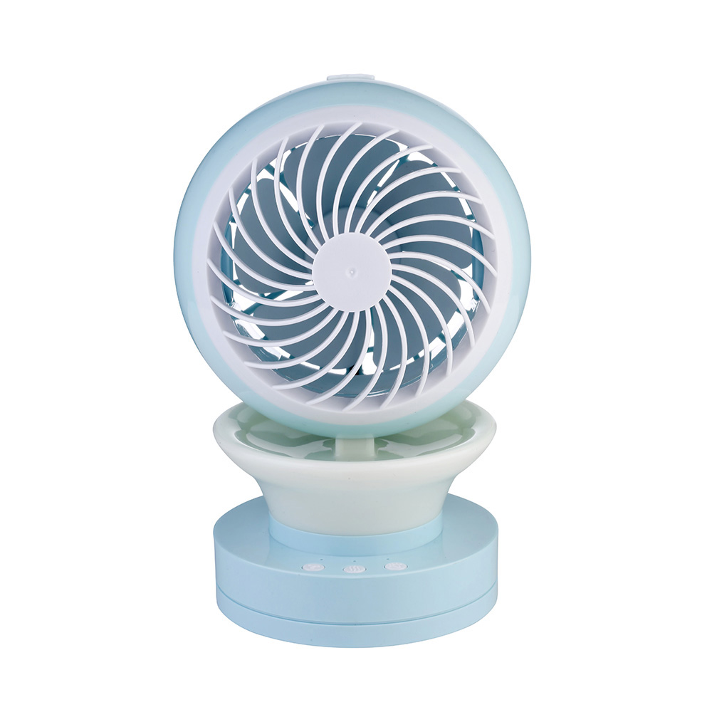 Air Misting Fan : Air humidifier with night light mini fan usb rechargeable