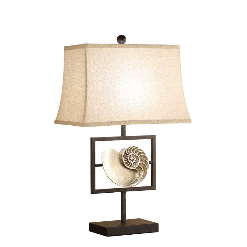 Страна раковины настольная лампа Спальня ночники образец номер простой Современные европейские Стиль Творческий Гостиная украшения