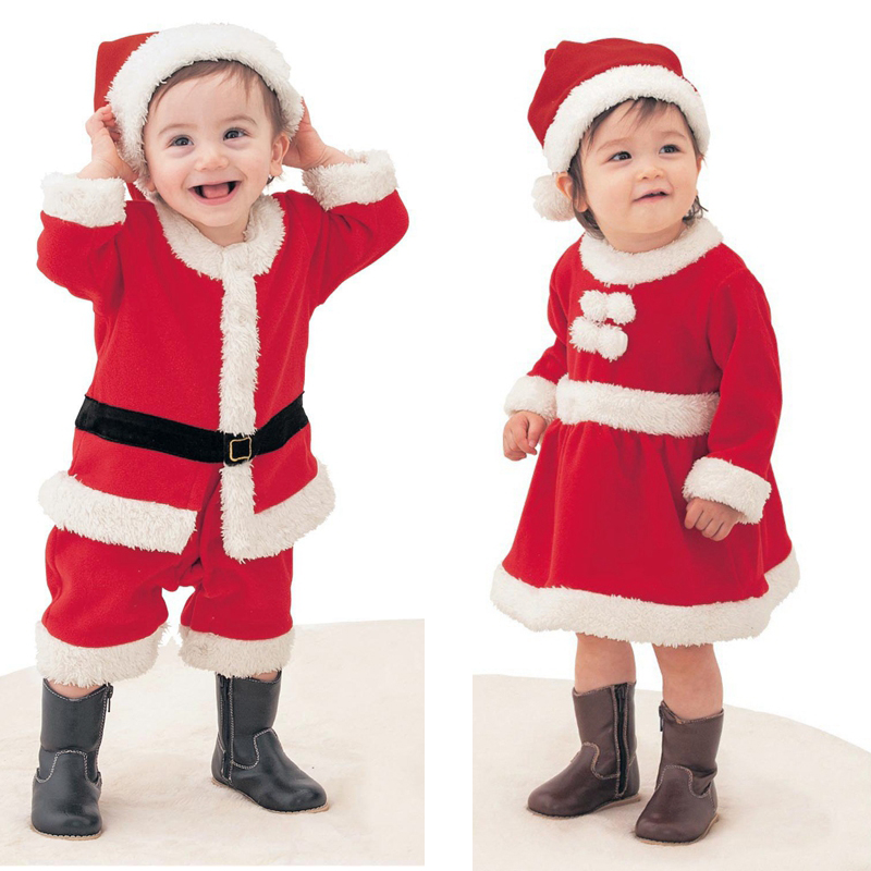 New baby romper newborn boys girls Christmas Santa Claus bebe fleece lining romper + hat suit infant New Year clothes puseky 2017 infant romper baby boys girls jumpsuit newborn bebe clothing hooded toddler baby clothes cute panda romper costumes