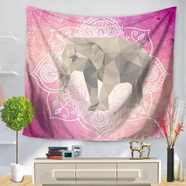 Manufacturers Selling Wall Art Tapestry Elephant Series Printing ...