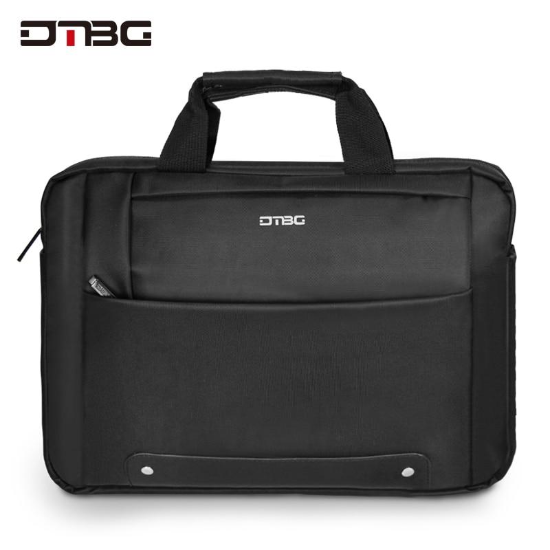 DTBG Men Nylon Briefcase Travel Briefcase Messenger Shoulder Tote Black Handbag 14 Inches Casual Business Laptop Briefcase
