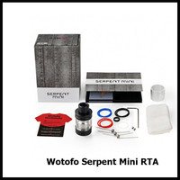 Original Wotofo Serpent Mini RTA Single Coil Build Deck Dual Adjustable Airflow 3ML Vape Atomizer VS