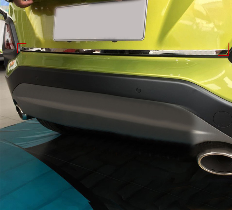 For Hyundai Kona Encino 2017 2018 Rear Trunk Tailgate Lid Bottom Strip Cover Trim Stainless Steel Car-styling Accessories