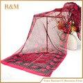 160*50 см новый знаменитые роскошный 2016 горячих женщин шелковые шарфы печатных слон шифон шарф bufandas хиджаб sjaals