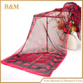 160*50 cm nuevo lujo famosos 2016 mujeres calientes bufandas elefante impresa gasa de seda bufanda hijab bufandas sjaals