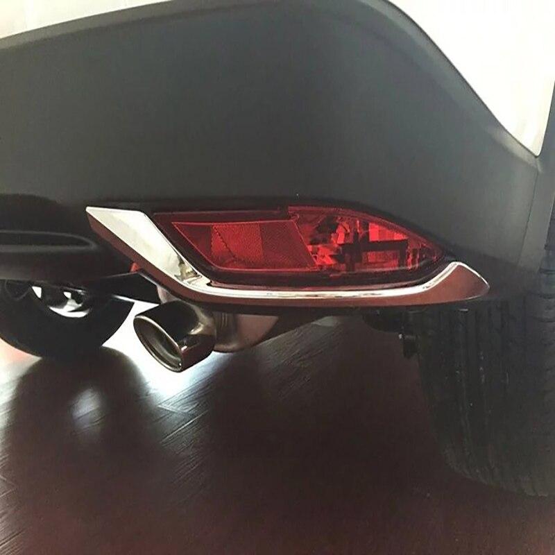 CAR STYLING CHROME REAR FOG LIGHT LAMP COVER TRIM BEZEL FRAME STYLING BUMPER MOLDING GARNISH FOR HONDA HRV VEZEL HR-V 2014 -2019