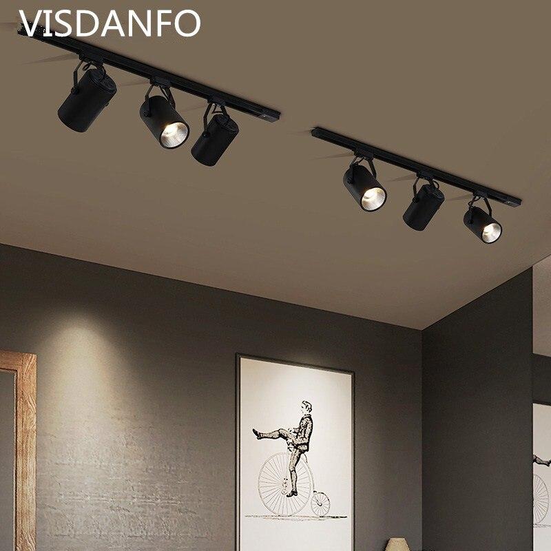 LED Track Light 10W 20W 30W COB Track Lamp Lights Rail Spotlights Leds Tracking Fixture Spot Lights Reflectors For Clothes Store