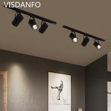 LED Track Light 10W 20W 30W COB Lamp Lights Rail Spotlights Leds Tracking Fixture Spot Reflectors for clothes Store