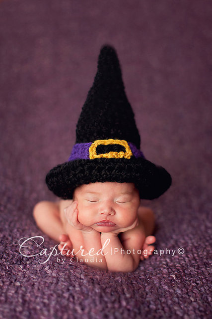 f13dc252216 Free shipping Newborn Hand Crocheted Hocus Pocus Witch Hat or Wizard -  handmade crocheted Photography Photo Prop