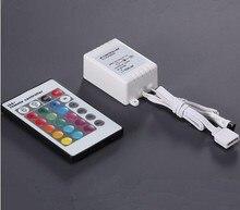 цена на 10pcs 12V LED Strips Wireless IR Remote controller infrared RGB LED Strip 24 Keys IR Remote Controller for 5050 LED