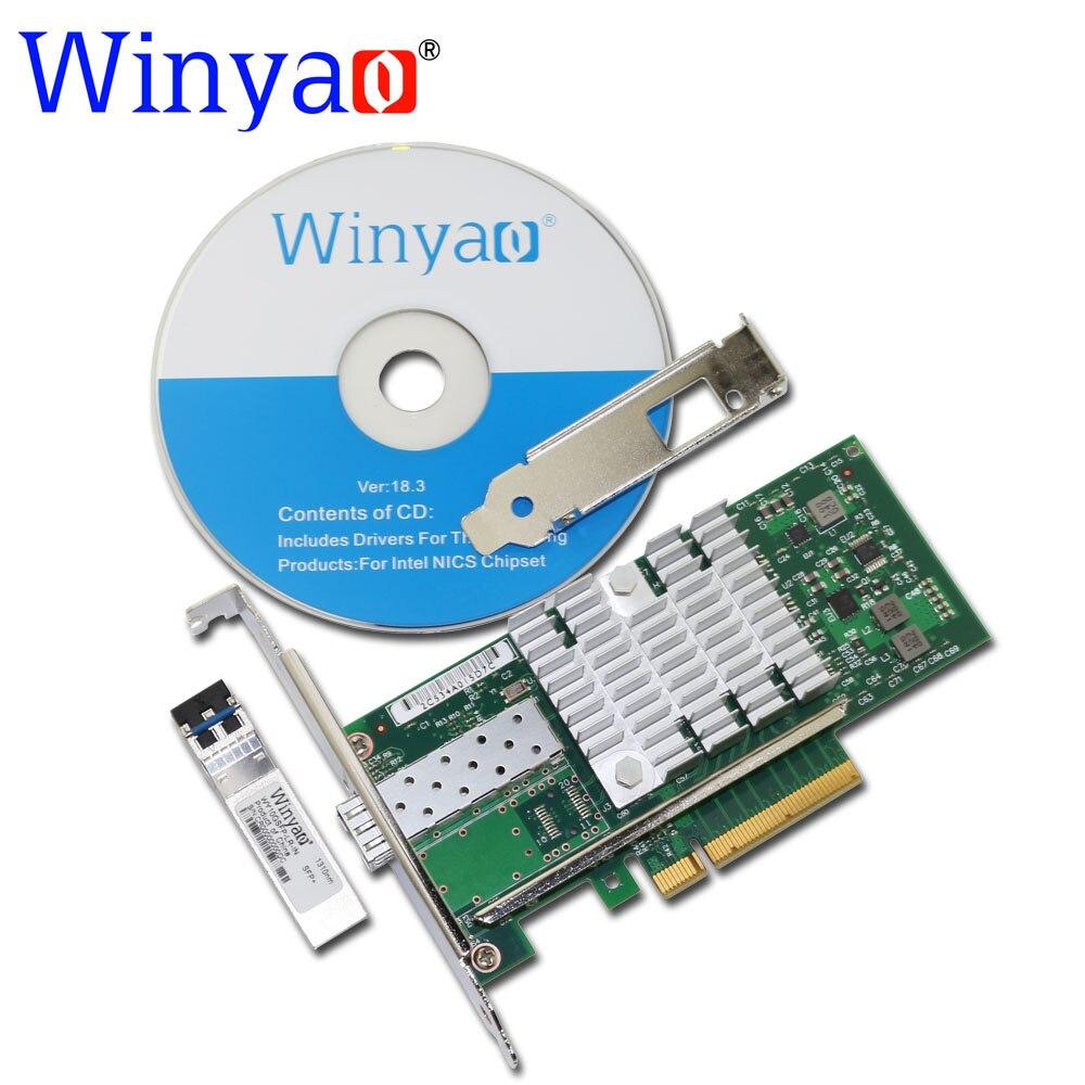 Winyao WYX520 LR1 10Gbps 1310nm LC Fibre PCI e 8x Ethernet Server Adapter with SFP+ 82599 E10G41BFLR X520 LR1 10000Mbps Nic