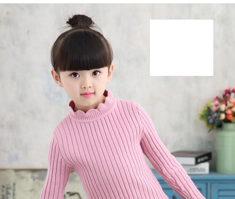 knitting big baby girls sweaters kids winter sweater 2016 long sleeve tops knitted kids sweaters girls pink green black kids top (9)