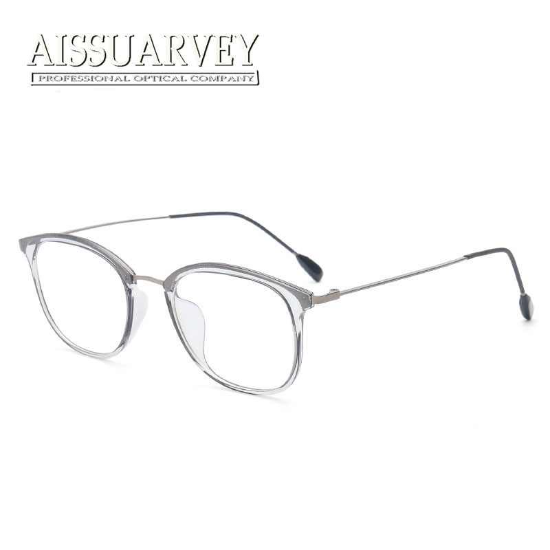 special light eyeglasses frame vintage simple grey pink optical eye glasses brand designer korean women men prescription clear