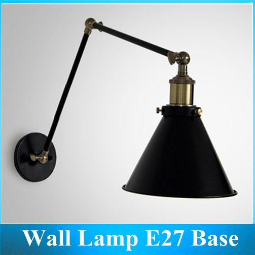 ФОТО Folding Wall Lamp Double Pole / Industrial style Living Room / Reading Wall Decorative E27 Base