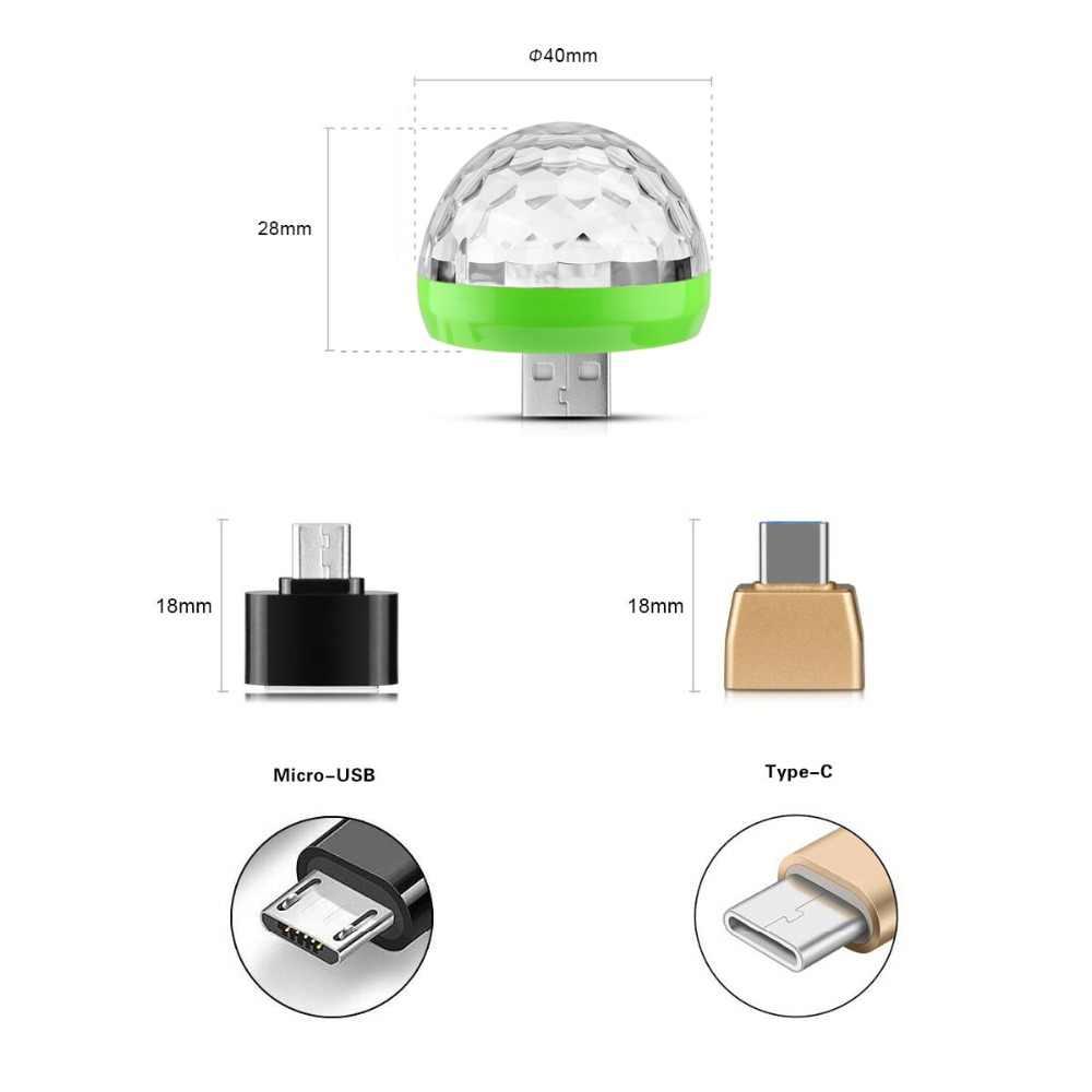 Новинка RGB кристалл магический шар USB светодиодный светильник музыка активировать цвет изменить сценический эффект лампочка праздник KTV DJ огни для дискотеки