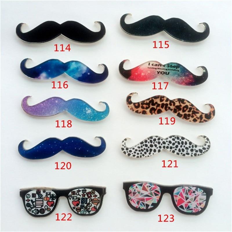 Acrylic Badge Funny beard Totoro Brooches Pin Up Collar Tips Sunglasses Clothing badge XZ33