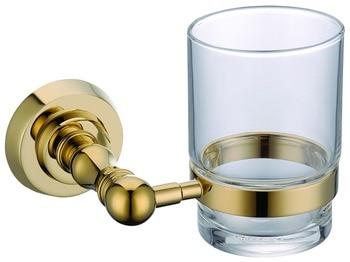 Free shipping Gold finish Round base Single  cup tumbler holder