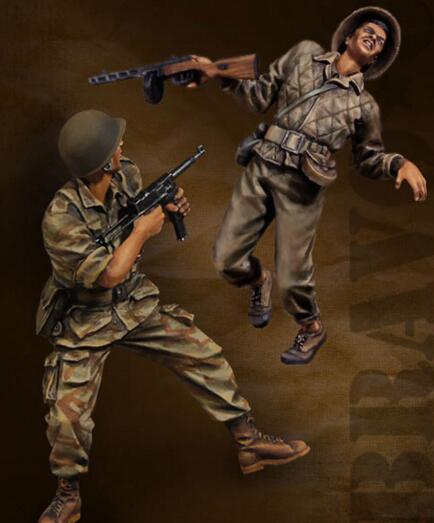 1/35 Resin Kits Vietnam War Soldiers 2pcs Model Kits image