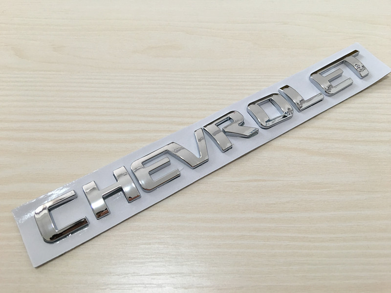 Image 2 - 3D ABS Car letter rear trunk Badge Sticker Logo Decals car styling for Cruze Aveo Silverado MALIBU CAPTIVA Camaro-in Car Stickers from Automobiles & Motorcycles