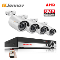 Jennov 4CH 5MP DVR AHD Camera CCTV Set Outdoor Camera Security System IP Video Surveillance Kit P2P HD Night Vision H.265 IR Cut