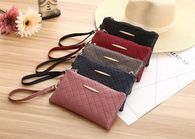 x11-Leather Wallet Lady Long Design Clutch Phone Zipper