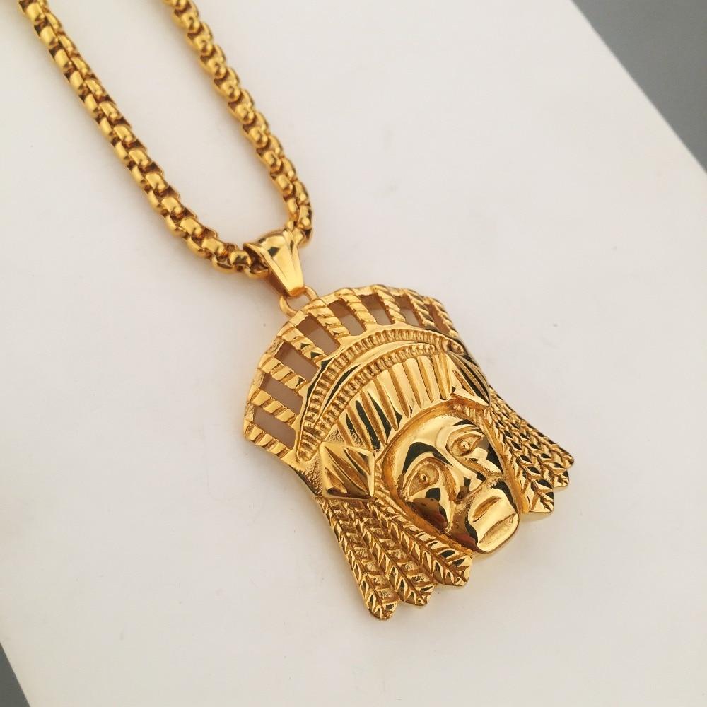 Mens Perhiasan Baja Titanium Baru Dope Indian Kepala Pendant Lifree Refill Lapisan Penyerap Isi 18pcs Dianxiaobao 1